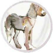 Waggle Arabian Wolf Pup Round Beach Towel