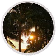 Waikoloa Palms Round Beach Towel