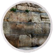 Round Beach Towel featuring the photograph Wailing Wall In Israel by Doc Braham