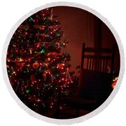 Waiting For Christmas - Square Round Beach Towel