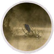 Round Beach Towel featuring the photograph Waiting For The Sun by Steven Sparks