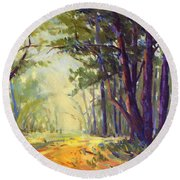 Walk In The Woods 5 Round Beach Towel