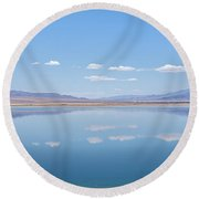 Walker Lake Mirror Round Beach Towel by Jennifer Nelson