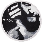 Walking Dead Daryl Close Round Beach Towel
