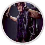 Walking Dead - Daryl Dixon Round Beach Towel