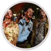 Walking Dead Round Beach Towel by Nina Prommer