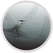 Round Beach Towel featuring the photograph Walking On Water by Randi Grace Nilsberg