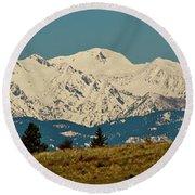 Wallowa Mountains Oregon Round Beach Towel by Ed  Riche