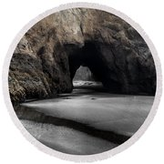 Walls Of The Cave Round Beach Towel