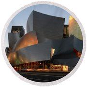 Walt Disney Concert Hall 21 Round Beach Towel by Bob Christopher