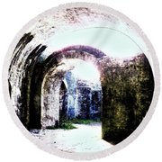 War At Fort Pickens Round Beach Towel by Faith Williams