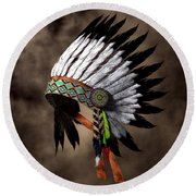 War Bonnet Round Beach Towel