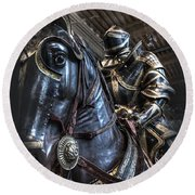 War Horse Round Beach Towel