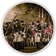 War Of 1812 Round Beach Towel by Bianca Nadeau