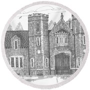 Ward Manor Bard College Round Beach Towel