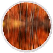 Warmth Impression Round Beach Towel by Lourry Legarde