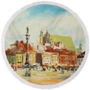 Warsaw- Castle Square Round Beach Towel