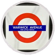 Warwick Station Round Beach Towel