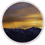 Wasatch Dawn Round Beach Towel