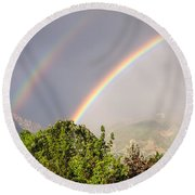 Wasatch Rainbow Round Beach Towel by Sue Smith