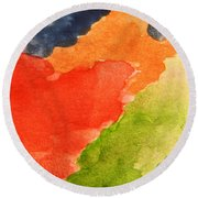 Wash Away Round Beach Towel by Andrea Anderegg