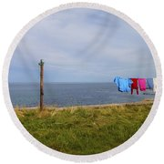 Washing Day Round Beach Towel