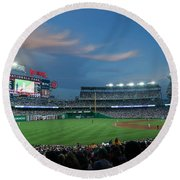 Washington Nationals In Our Nations Capitol Round Beach Towel