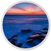Washington Oaks Twilight Round Beach Towel