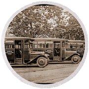 Washington Railway And Electric Company Round Beach Towel