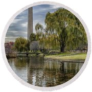 Washington Reflection Round Beach Towel