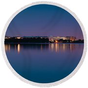 Round Beach Towel featuring the photograph Washington Skyline by Sebastian Musial