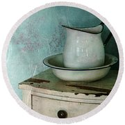 Washstand Still Life Round Beach Towel
