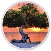 Watapana Tree - Aruba Round Beach Towel