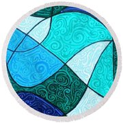 Water Abstract Round Beach Towel