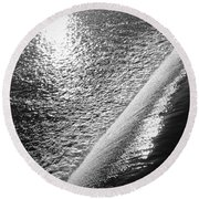 Water And Light Round Beach Towel by Photographic Arts And Design Studio