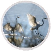 Water Ballet  Round Beach Towel by Saija  Lehtonen
