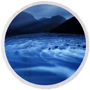 Water Blues Round Beach Towel