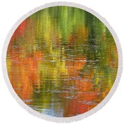 Water Colors Round Beach Towel by Ann Horn