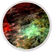 Water Colors Round Beach Towel by Deena Stoddard