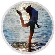 Water Dancer Round Beach Towel