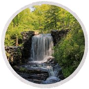 Water Fall Moore State Park 2 Round Beach Towel