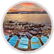 Water Guardians Round Beach Towel