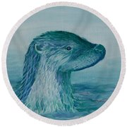 Prince Of The Water Round Beach Towel