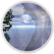 Round Beach Towel featuring the digital art Water Protection by Kim Prowse