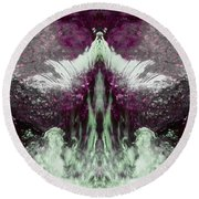 Round Beach Towel featuring the photograph Water Spirit I by Lanita Williams