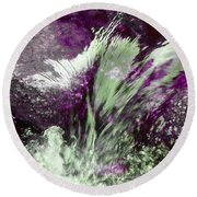 Round Beach Towel featuring the photograph Water Spirit II by Lanita Williams