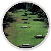 Water Supply Infiltration Gallery Round Beach Towel