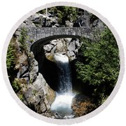 Water Under The Bridge Round Beach Towel