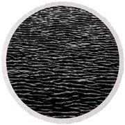 Water Wave Texture Round Beach Towel