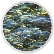 Water World Round Beach Towel